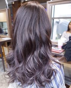 Seeking inspiration from the wonders of nature! Lilac Ash Hair Color.