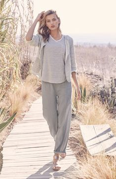 Organic Linen Wide Leg Pants - possibly wouldn't look good because i need to define waist but LOVE