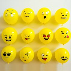 Cheap 50 pcs/lot, Buy Quality ballon birthday directly from China latex balloons Suppliers: 50 pcs/lot 12inch emoji latex balloons ballons expression ballon birthday party Emoticons helium ballon