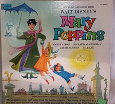Walt Disney Mary Poppins Story and Songs LP 1964 ST 3922 by KatsVintageTreasures on Etsy