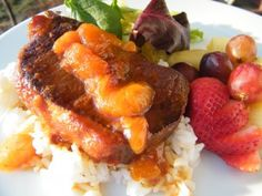 Gluten & Dairy Free Orange-Apricot Pork Chops for the Slow Cooker   OAMC from Once A Month Mom
