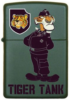 Custom Zippo, Cool Lighters, Tiger Tank, Zippo Lighter, Cigar, Old And New, Sd, Vietnam, Army