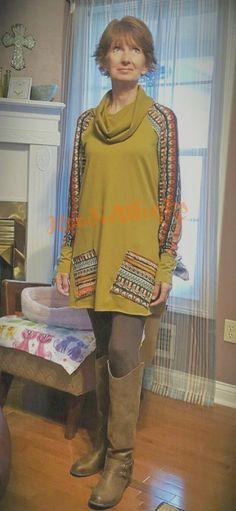 Meet Zoe - The new cowl neck long tunic to wear with leggings. Ocean Canvas, Hoodies, Sweatshirts, Cowl Neck, Tunics, Repurposed, Tunic Tops, Meet, Leggings