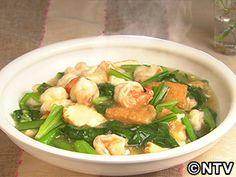 小松菜、厚揚げ、えびの中華うま煮のレシピ|キユーピー3分クッキング