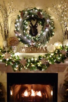 Welcome to my Christmas home tour! Thank you for coming by to see my decorations this year. Christmas is my favorite time of year! Pottery Barn Christmas, Christmas Fireplace, Christmas Mantels, Christmas Home, Christmas Holidays, Christmas Wreaths, Christmas Cards, Christmas Blessings, Christmas Recipes