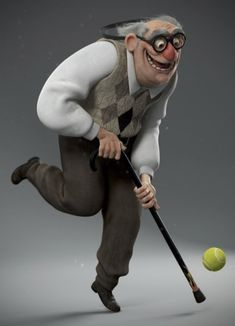 Cane Ball by Daniel Kho, via Behance Character Modeling, Character Creation, 3d Character, Character Concept, Zbrush, Cool Sketches, Funny Art, Cartoon Drawings, 3d Cartoon