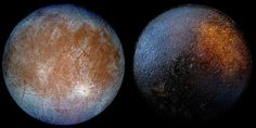 Of the two images shown above, one is a moon in our Solar System, while the other is the bottom of frying pan. We are not making this up -- can you tell a pan from a planetoid? Pan Images, Craters On The Moon, Astronomy Pictures, Nasa Photos, A Kind Of Magic, Across The Universe, Space Photos, Astronomy, Mercury