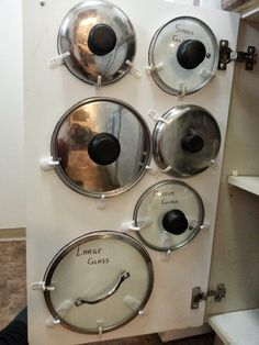 Easy Storage For Pot Lids using Command Hooks