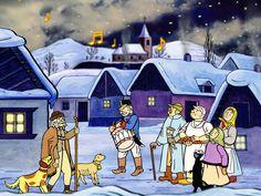 vánoce lada - Hledat Googlem Summer Pictures, Cute Pictures, Christmas Cards, Christmas Decorations, Z Arts, Nocturne, Children's Book Illustration, Winter Scenes, Winter Time