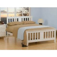 Gere White Wooden Double Bed Frame Very high quality white wooden bedframe with a pure white finish White King Size Bed, Wooden King Size Bed, White Wooden Bed, Wooden Double Bed, Wooden Bed Frames, Wood Beds, 4ft Beds, Thing 1, Headboard Designs