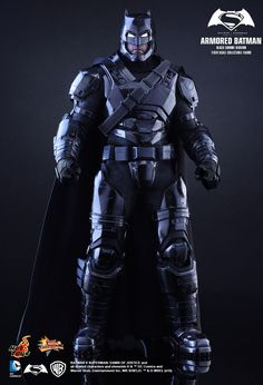 Hot Toys : Batman v Superman: Dawn of Justice - Armored Batman (Black Chrome Version) 1/6th scale Collectible Figure