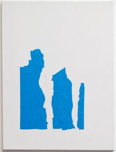 Blue Shape Painting, 2006/7  Oil, wax and matte medium on canvas