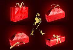Wow..Design!!! JWS Shopping Bag --> Wrapping Box Johnnie Walker Shopping Bag, designed by  Prompt Design.