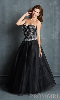 Strapless Ball Gown by Night Moves at PromGirl.com