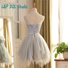 Aliexpress.com : Buy Real Pictures Light Gray Bridesmaid Dresses 2016 Summer Style Pleats Tulle Shining Top Short Bridesmaid Dresses Royal Blue/Pink from Reliable dresses lace suppliers on L&P DQL Studio Lpdress Store