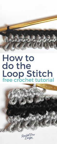 Learn How to do the Loop Stitch in Crochet! #crochettutorials #loopstitch #crochetstitches #crochet