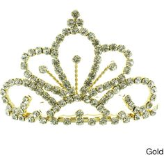 Kate Marie 'Sarah' Victorian Rhinestone Tiara Comb ($13) ❤ liked on Polyvore featuring accessories, hair accessories, tiaras, crowns, jewelry, victorian comb, tiara hair comb, crown tiara, hair combs accessories and rhinestone crown