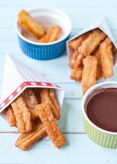 Cinnamon Sugar Churros and Chocolate Sauce | Neighborfoodblog.com