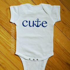 Cute Anchor Onesie. Boating onesie. https://www.etsy.com/listing/224927476/cute-anchor-infant-bodysuit-anchor-baby