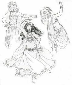 Belly Dance outfit sewing patterns | belly dancer costume in