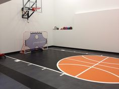 Home Basketball Court, Basketball Floor, Home Gym Design, Design Your Home, Trampoline Birthday Party, Outdoor Flooring, Building A New Home, Flooring Options, At Home Gym