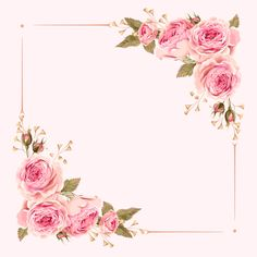 Flowers Pink Background Floral Ideas For 2019 Art Floral, Frame Floral, Flower Frame, Flower Art, Frame With Flowers, Floral Card, Art Flowers, Flower Background Wallpaper, Flower Backgrounds