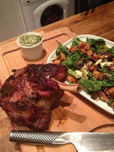 The smoked lamb pre-slicing Smoked Lamb, Outdoor Grilling, The Smoke, Smoking, Steak, Recipes, Food, Essen, Eten