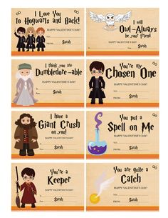 Harry Potter valentines. Printed and shipped! https://www.etsy.com/listing/265840041/harry-potter-valentines-with-envelopes