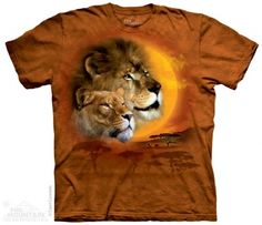 Lion Sun T-Shirt at theBIGzoo.com, a family-owned store. Check our sales & FREE Shipping.