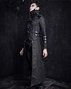 UNISEX PU gothic punk visual kei knight Japan long coat jacket blazer S-XL Gothic Coat, Gothic Steampunk, Gothic Men, Steampunk Jacket, Visual Kei, Lolita Fashion, Gothic Fashion, New Rock Boots, Dystopian Fashion
