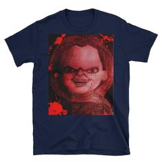Child's Play Chucky Doll Short-Sleeve Unisex T-Shirt Childs Play Chucky, Nerdy Shirts, T Shirt World, Kids Playing, Shirt Style, Screen Printing, Just For You, Unisex, T Shirts For Women