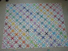 Oh My Gosh quilt. found on Quilting Board. LOTS of tiny pieces. Would be a great use of tiny strips.