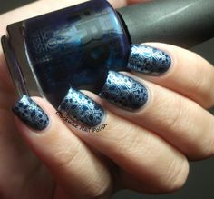 The Clockwise Nail Polish: Mollon Pro 173 Léonie & MoYou Christmas 01 plate