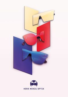 April 2016 ad promoting Tuttolente sunglasses by SUPER for Nürnberg based optician Herr Menig Optik > www.philippzm.com #illustration #geometric #sunglasses #retrosuperfuture #super