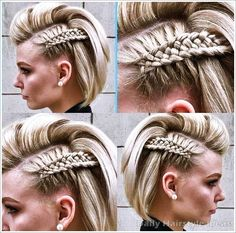 Frick'n awesome braid! diy hairstyles shorthair Frick'n awesome braid! Cool Braids, Braids For Short Hair, Cute Hairstyles For Short Hair, Box Braids Hairstyles, Pretty Hairstyles, Amazing Braids, Viking Hairstyles, Side Braids, Long Hair
