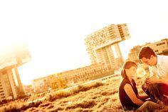 Engagementfoto am Rhein