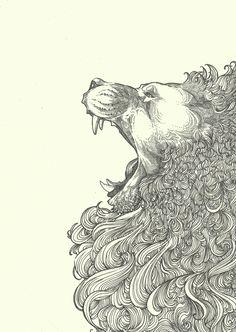 Roar Ink 5x8inch | Visit http://www.omnipopmag.com/main For More!!! #Omnipop #Omnipopmag