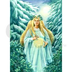Send unique, nature-based greeting cards and gifts with my Yule Goddess design! Inside Card: May the light of Yule bring you joy and peace!