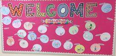 Smarties Welcome Back Bulletin Board