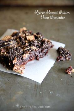 Reese's Peanut Butter Oreo Brownies
