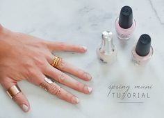 This Spring-ready manicure is easy to DIY! To re-create this nail art look at home, all you need is your favorite pastel nail polishes and a matte topcoat.
