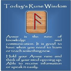 Pick your rune wisdom. Feel free to share