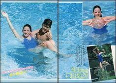 Melissa Gilbert and brother Jonathan Gilbert in the pool!