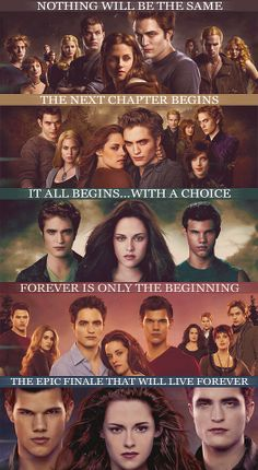 the sayings for all 5 twilight movies