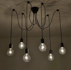 65.00$  Watch now - http://ail3f.worlditems.win/all/product.php?id=32328020891 - 6 arm edison bulb Pendant Chandelier Modern Antique Adjustable DIY E27 Art Spider Ceiling Lamp Fixture Light