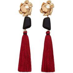 Tassels Pendant Earrings ($22) ❤ liked on Polyvore featuring jewelry, earrings, tassel pendant, tassel earrings, beaded pendant, beaded jewelry and tassle earrings