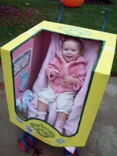 Hilarious baby doll Halloween costume. So cute and practical for a toddler on the big night out!: