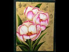 ▶ Como pintar flores - Tecnica americana - YouTube
