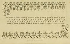 1816-1820 regency embroidery patterns.