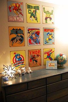 10 X KINDERKAMERS VOOR SUPER HEROES